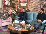 Ο Γιώργος κατά τη διάρκεια της συνέντευξης για την εκπομπή DOT. με τους Νάνσυ Ζαμπέτογλου και Θανάση Αναγνωστόπουλο - 12 Ιανουαρίου 2018 Φωτογραφία: gregoreszakharias Instagram