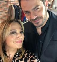 Ο Γιώργος με τη Νάνσυ κατά τη διάρκεια του γυρίσματος της συνέντευξης για την εκπομπή DOT. - 12 Ιανουαρίου 2018 Φωτογραφία: nancyzabetoglou Instagram