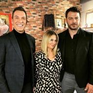 Ο Γιώργος μαζί με τους παρουσιαστές Νάνσυ Ζαμπέτογλου και Θανάση Αναγνωστόπουλο κατά τη διάρκεια του γυρίσματος της συνέντευξης για την εκπομπή DOT. - 12 Ιανουαρίου 2018 Φωτογραφία: thanasis_anagnostopoulos Instagram
