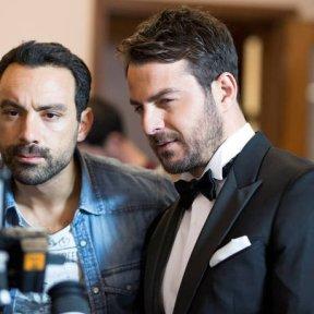 Ο Γιώργος και ο Σάκης κατά τη διάρκεια του γυρίσματος του πρώτου διαφημιστικού βίντεο για την εταιρία ΝΑΚ shoes - 13 Δεκεμβρίου 2017 Φωτογραφία: newsbeast
