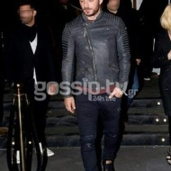 """Ο Γιώργος κατά την έξοδό του από το """"YTON the music show"""" όπου εμφανίζεται ο Νίκος Βέρτης - 13 Ιανουαρίου 2018 Φωτογραφία: gossip-tv"""