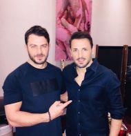 """Ο Γιώργος μαζί με τον Νίκο Βέρτη στο κέντρο """"YTON the music show"""" όπου εμφανίζεται ο καλλιτέχνης - 13 Ιανουαρίου 2018 Φωτογραφία: gregoreszakharias Instagram"""