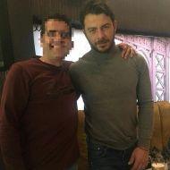 Ο Γιώργος με φαν στο Avanti Cafe-bar στις 16 Ιανουαρίου 2018 Φωτογραφία: giorgos_aggelopoulos_friends Instagram