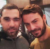 Ο Γιώργος μαζί με φαν στο Avanti Cafe-Bar στις 18 Νοεμβρίου 2017 Φωτογραφία: nikoskritikakis Instagram