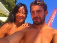 Ο Γιώργος με φαν στη Σκιάθο στις 19 Αυγούστου 2017 Φωτογραφία: liuba_zora Instagram