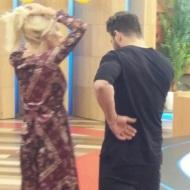 """Ο Γιώργος και η Ελένη backstage στην εκπομπή """"Ελένη"""" του Alpha TV - 19 Ιανουαρίου 2018 Φωτογραφία: akis.passaris via giorgos_aggelopoulos_friends Instagram"""