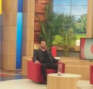 """Ο Γιώργος στην εκπομπή """"Ελένη"""" του Alpha TV - 19 Ιανουαρίου 2018 Φωτογραφία: akis.passaris via giorgos_aggelopoulos_friends Instagram"""
