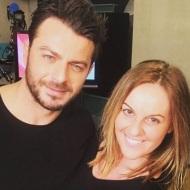 """Ο Γιώργος μαζί με την αρχισυντάκτρια της εκπομπής """"Ελένη"""", Ελένη Γελαλή - 19 Ιανουαρίου 2018 Φωτογραφία: elengelali Instagram"""