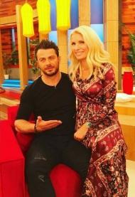 """Ο Γιώργος και η Ελένη στην εκπομπή """"Ελένη"""" του Alpha TV - 19 Ιανουαρίου 2018 Φωτογραφία: elenimenegaki Instagram"""