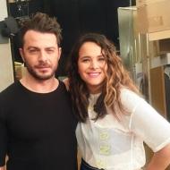 """Ο Γιώργος με την Ελιάνα Χρυσικοπούλου backstage στην εκπομπή """"Ελένη"""" - 19 Ιανουαρίου 2018 Φωτογραφία: elianoula Instagram"""
