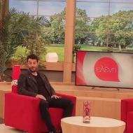 """Ο Γιώργος backstage στην εκπομπή """"Ελένη"""" του Alpha TV - 19 Ιανουαρίου 2018 Φωτογραφία: emenegaki_tvo Instagram"""