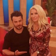 """Ο Γιώργος και η Ελένη στην εκπομπή """"Ελένη"""" του Alpha TV - 19 Ιανουαρίου 2018 Φωτογραφία: to_barberiko Instagram"""