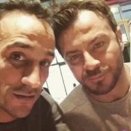 """Ο Γιώργος μαζί με τον φίλο της Σάρας, Γιώργο Ποπόρη, στην παράσταση """"Η νεράιδα του φεγγαριού"""" στο θέατρο ΤΡΙΑΝΟΝ - 21 Ιανουαρίου 2018 Φωτογραφία: poporisgiorgos Instagram"""