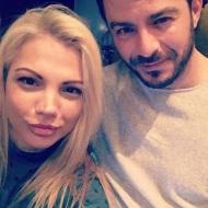 Ο Γιώργος στο Avanti Cafe-bar με τη Λυδία, PR του μαγαζιού, στις 23 Ιανουαρίου 2018 Φωτογραφία: lydia_ssinni Instagram