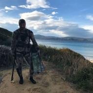Ο Γιώργος στη Σκιάθο καθώς ετοιμάζεται να πάει για ψαροντούφεκο στις 29 Δεκεμβρίου 2017 Φωτογραφία: gregoreszakharias Instagram