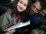 """Ο Γιώργος με φαν στο γήπεδο Εργάνης """"Δημήτρης Νικολαΐδης"""" στον Βύρωνα για τον φιλανθρωπικό αγώνα προς ενίσχυση του μικρού Παναγιώτη - 4 Δεκεμβρίου 2017 Φωτογραφία: _evangelinep05_ Instagram"""