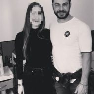 Ο Γιώργος με φαν στο Avanti Cafe-Bar στις 4 Δεκεμβρίου 2017 Φωτογραφία: elena_perr Instagram