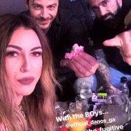Ο Γιώργος μαζί με τον Μπο και Γεωργία Βρανά στο Club 22 Live Stage όπου τραγουδάνε μαζί με Πάνο Κιάμο και Αντύπα - 4 Ιανουαρίου 2018 Φωτογραφία: georgiavrana_official Instagram
