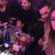 Ο Γιώργος με την παρέα του στο Club 22 Live Stage στις 4 Ιανουαρίου 2018 Φωτογραφία: vasilisanis_official Instagram