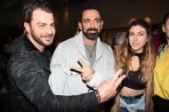 """Ο Γιώργος μαζί με τους Μπο και Γεωργία Βρανά στην παράσταση """"Το πρώτο μας πάρτι"""" στο θέατρο Coronet - 9 Ιανουαρίου 2018 Φωτογραφία: TLife"""