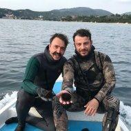 Ο Γιώργος μαζί με φίλο του στη Σκιάθο όπου βρέθηκε για το τριήμερο της Καθαράς Δευτέρας - 18 Φεβρουαρίου 2018 Φωτογραφία: infinityblueskiathos Instagram
