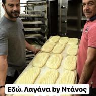"""Ο Γιώργος στη Σκιάθο, στον φούρνο """"Ντάνος"""" της οικογένειας, λίγο πριν ψήσουν τις παραδοσιακές λαγάνες για την Καθαρά Δευτέρα - 19 Φεβρουαρίου 2018 Φωτογραφία: official_danos_ga Instagram"""