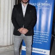 """Ο Γιώργος στην εκδήλωση """"Βραδιά του Ευχαριστώ"""" του Make a Wish που έγινε στις 22 Φεβρουαρίου 2018 Φωτογραφία: faysbook.gr"""