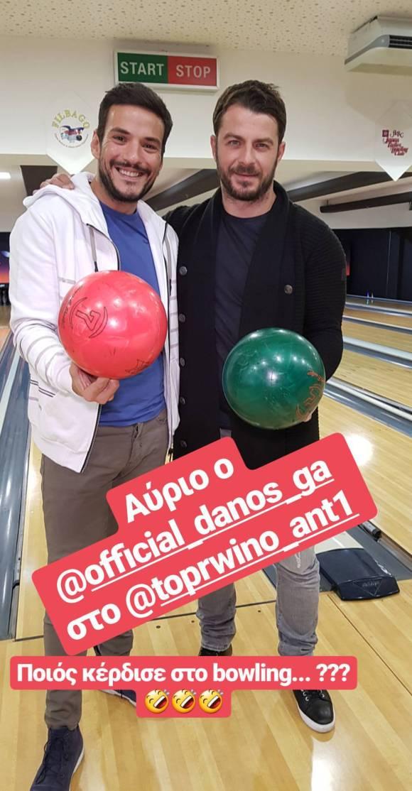 Ο Γιώργος μαζί με τον δημοσιογράφο, Κώστα Τσουρό Φωτογραφία: tsouroskostas Instagram