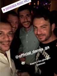 Ο Γιώργος μαζί με φανς στο Baraonda Music Hall όπου διασκέδασε με το πρόγραμμα του Γιάννη Πάριου στις 23 Φεβρουαρίου 2018 Φωτογραφία: panagiotistourvas Instagram