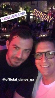 Ο Γιώργος μαζί με τον επιχειρηματία Χριστόφορο Τορναρίτη στο Moon Lounge Bar στη Λευκωσία - 25 Φεβρουαρίου 2018 Φωτογραφία: christofertorno Instagram