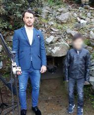 Ο Γιώργος στο κρησφύγετο του ήρωα Γρηγόρη Αυξεντίου στον Μαχαιρά - 25 Φεβρουαρίου 2018 Φωτογραφία: gregoryzaharias Instagram