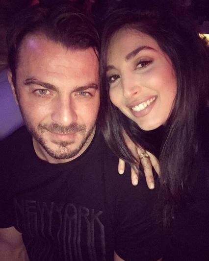 Ο Γιώργος μαζί με το μοντέλο Ιωάννα Γιαννακού στο Moon Lounge Bar στη Λευκωσία - 25 Φεβρουαρίου 2018 Φωτογραφία: ioannayiannakou Instagram