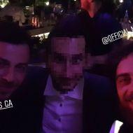 Ο Γιώργος και ο Μάριος μαζί με φαν στο Moon Lounge Bar στη Λευκωσία - 25 Φεβρουαρίου 2018 Φωτογραφία: tasos8 Instagram
