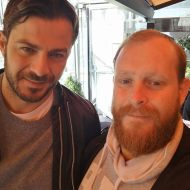 Ο Γιώργος μαζί με τον γυμναστή Χρήστο Αυγέρο στην Καλαμπάκα - 5 Φεβρουαρίου 2018 Φωτογραφία: stagonnews.gr