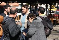 """Ο Γιώργος στην Καλαμπάκα κατά τη διάρκεια γυρισμάτων για το """"Τατουάζ"""" - 5 Φεβρουαρίου 2018 Φωτογραφία: tameteora.gr"""