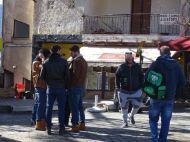 """Ο Γιώργος κατά τη διάρκεια των γυρισμάτων του """"Τατουάζ"""" στην Καλαμπάκα στις 5 Φεβρουαρίου 2018 Φωτογραφία: trikalaview.gr"""