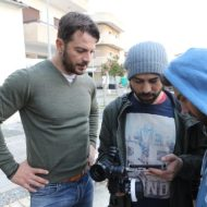 """Ο Γιώργος κατά τη διάρκεια γυρισμάτων για το """"Τατουάζ"""" στην Κύπρο Φωτογραφία: bijou-social.com.cy"""
