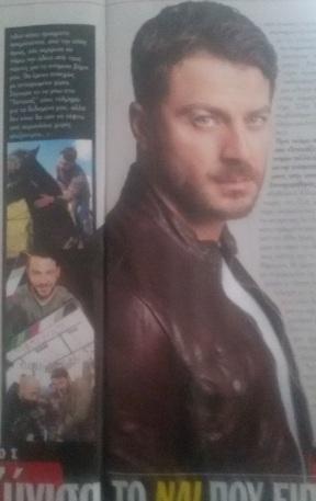 """Ο Γιώργος στη συνέντευξη για το περιοδικό """"Τηλέραμα"""" Φωτογραφία: Γιώργος Καπλανίδης"""