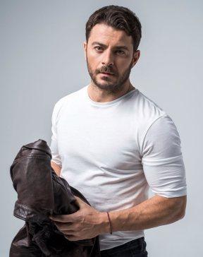 """Ο Γιώργος ως Στέφανος Λαμπίρης για τη σειρά """"Το Τατουάζ"""" Πηγή: FThis"""