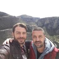 Ο Γιώργος και ο Άκης στην Ιερά Μονή Βαρλαάμ στα Μετέωρα - 14 Μαρτίου 2018 Φωτογραφία: akis.passaris Instagram