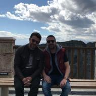 Ο Γιώργος και ο Άκης στην Ιερά Μονή Βαρλαάμ στα Μετέωρα - 14 Μαρτίου 2018 Φωτογραφία: official_danos_ga Instagram