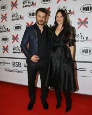Ο Γιώργος μαζί με την Υβόννη Μπόσνιακ στο κόκκινο χαλί του Madwlak στις 19 Μαρτίου 2018 Φωτογραφία: beautifulpeoplepr Instagram
