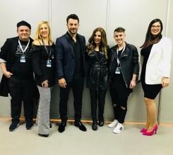 Ο Γιώργος μαζί με Ευριδίκη, Τζώρτζια Κεφαλά και άλλους στα Madwalk 2018 - 19 Μαρτίου 2018 Φωτογραφία: elenageorgana Instagram