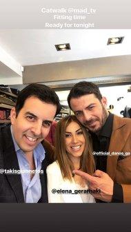 Ο Γιώργος μαζί με τη στυλίστρια Έλενα Γεραρχάκη και τον σχεδιαστή Τάκη Γιαννέτο, καθώς ψάχνουν ρούχα για το Madwalk 2018 - 19 Μαρτίου 2018 Φωτογραφία: takisgiannetos Instagram