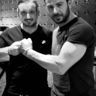Ο Γιώργος με φαν στο γυμναστήριο MyGym στη Λευκωσία στις 22 Μαρτίου 2018 Φωτογραφία: ektorasktori Instagram