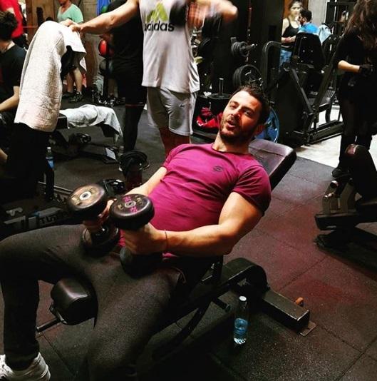 Ο Γιώργος στο γυμναστήριο MyGym στη Λευκωσία στις 22 Μαρτίου 2018 Φωτογραφία: kostasshiakallis Instagram