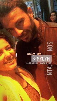 Ο Γιώργος με φαν στο γυμναστήριο MyGym στη Λευκωσία στις 22 Μαρτίου 2018 Φωτογραφία: tina_savva Instagram