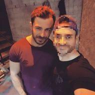Ο Γιώργος με φαν στο γυμναστήριο MyGym στη Λευκωσία στις 22 Μαρτίου 2018 Φωτογραφία: vasilis_and Instagram