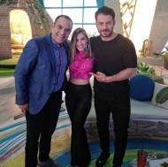"""Ο Γιώργος μαζί με την Έλενα και τον Κρατερό στην εκπομπή """"Στη φωλιά των Κου Κου"""" - 26 Μαρτίου 2018 Φωτογραφία: elena_gerarhaki Instagram"""