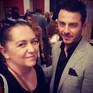 Ο Γιώργος με τη Διονυσία Ζαπατίνα του Gossip TV στην 23η Athens Xclusive Designers Week - 29 Μαρτίου 2018 Φωτογραφία: dzapatina Instagram